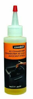 Fellowes Powershred Performance Shredder Oil, 16 oz. Extende