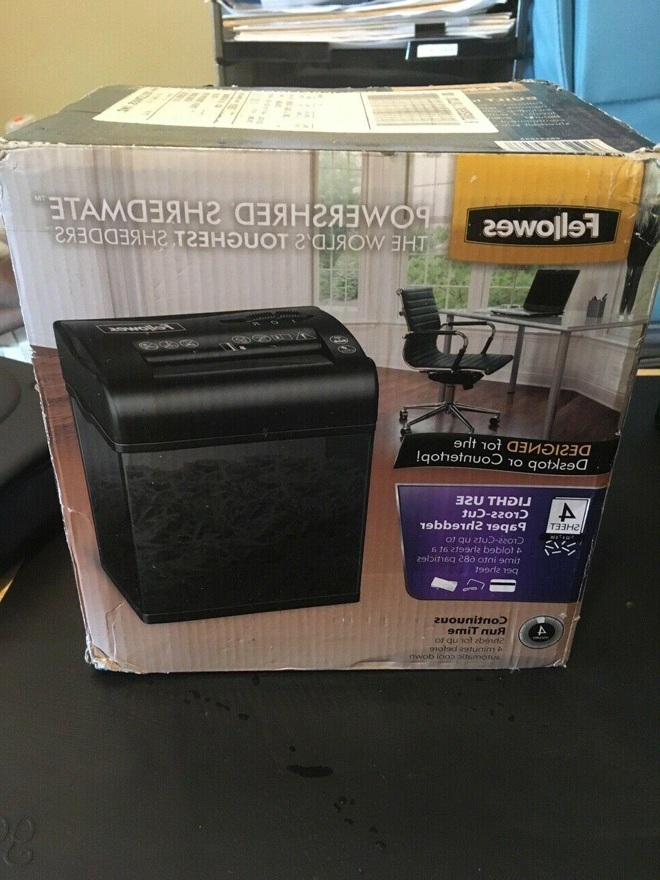 powershred shredmate cross cut desktop paper shredder