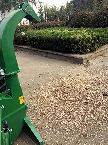 Wood Chipper Attachment PTO Cutter Leaf Shredder, Tractors to 50HP, Inch Chipper Year Parts BX42S
