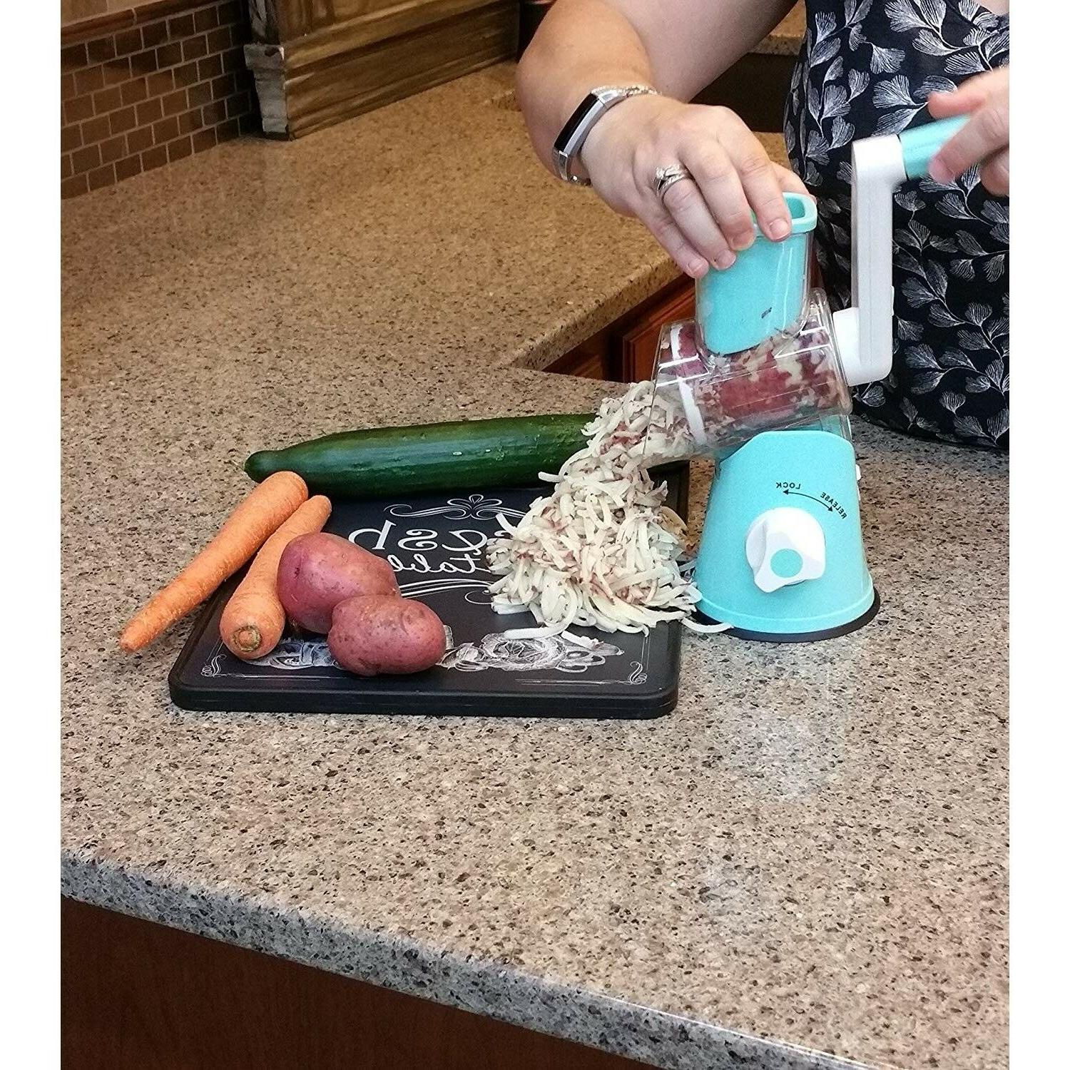 Rotary Cheese Grater Hand Crank Stainless Vegetable Food