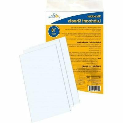 royal sovereign shredder lubricant sheets rssls