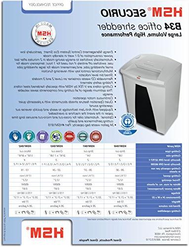 HSM B34s, Sheet, 26.4-Gallon Capacity Shredder