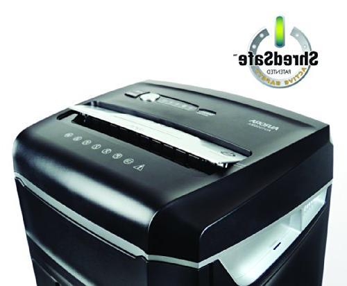 Aurora High JamFree AU1000MA 10-Sheet / / Card Shredder with Wastebasket