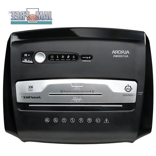 AU1000MA 10-Sheet Micro-Cut / CD Card Wastebasket
