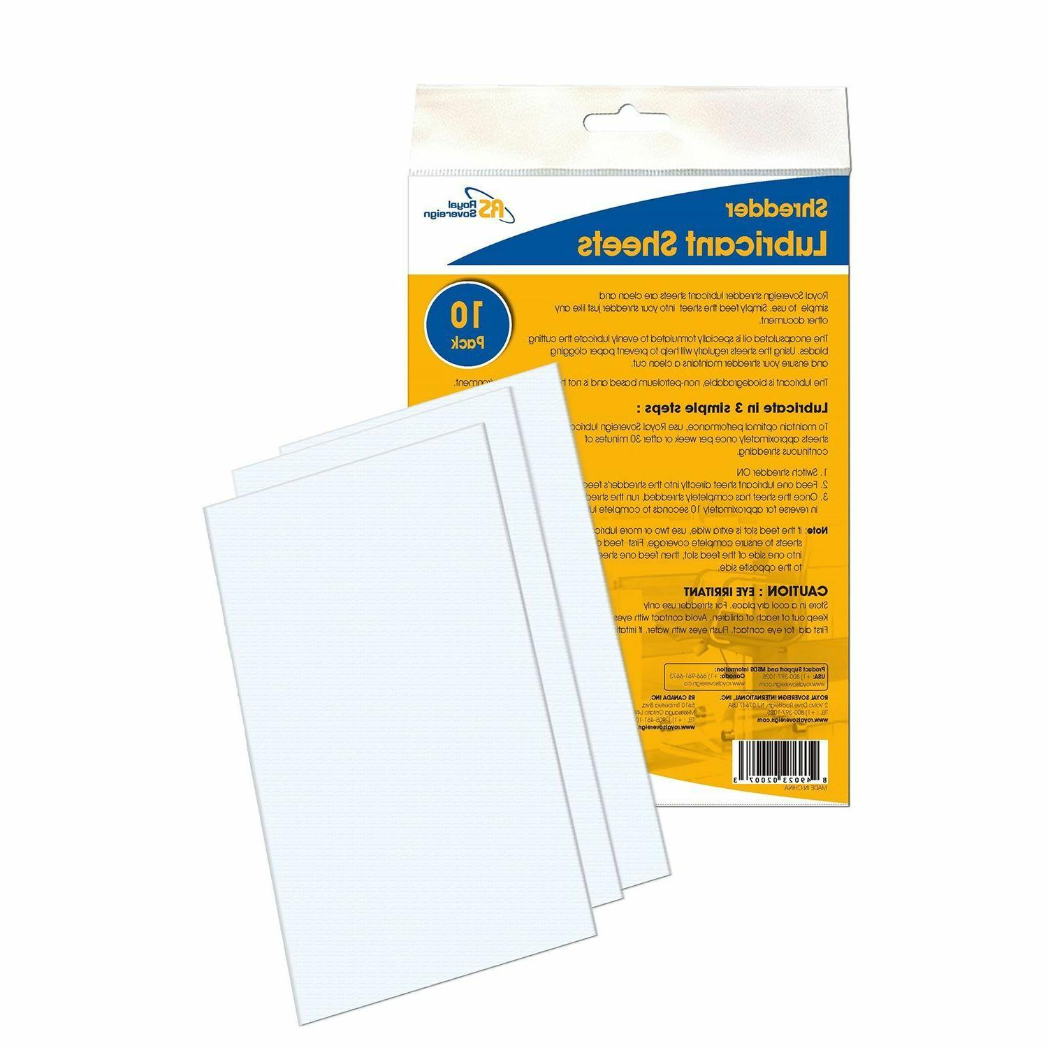 rs sls shredder lubricant sheets