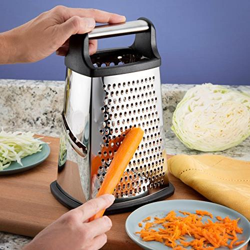 Professional Grater, Steel Best for Cheese, Vegetables, Ginger,
