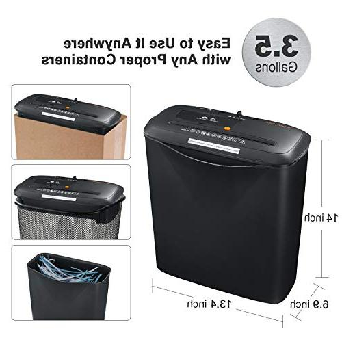 Bonsaii 8-Sheet Card/CD Shredder 3.4 Gallons