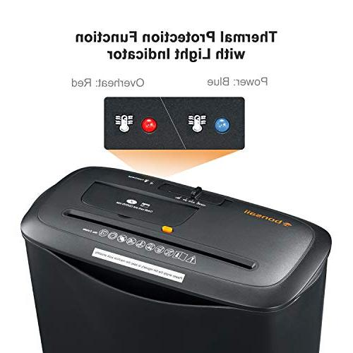 Bonsaii Card/CD Shredder with 3.4 Gallons