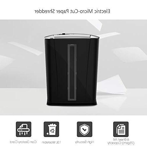 Aibecy Tenwin Micro-Cut Shredder with Wastebasket Bank Hospital