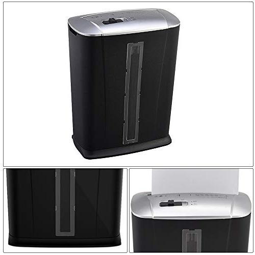 Aibecy Tenwin 6-Sheet Micro-Cut Shredder A4 Shredder 3.4 Wastebasket Home Bank