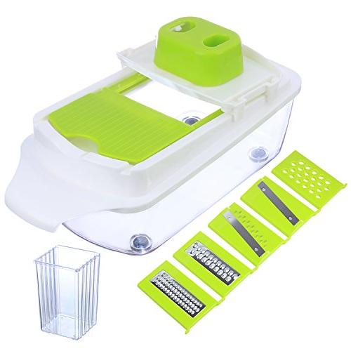 Vegetable Chopper Mandoline Dicer Grater - & Heavier Blade Dicer - Fruit and Cheese Cutter, Veggie by