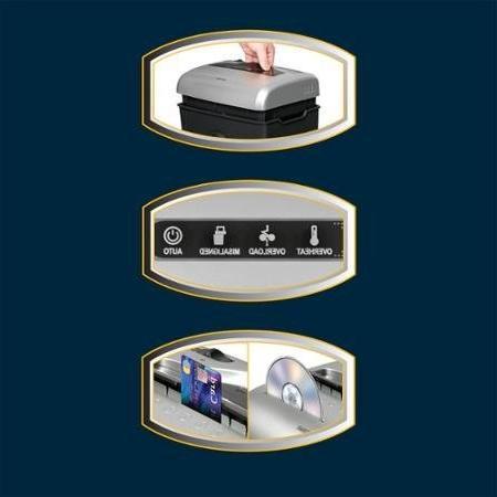 4.8 Gallon Wastebasket, Cross-Cut Paper/CD/Credit Card Shredder,