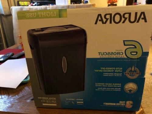 Aurora 6sheet Crosscut Paper Shredder