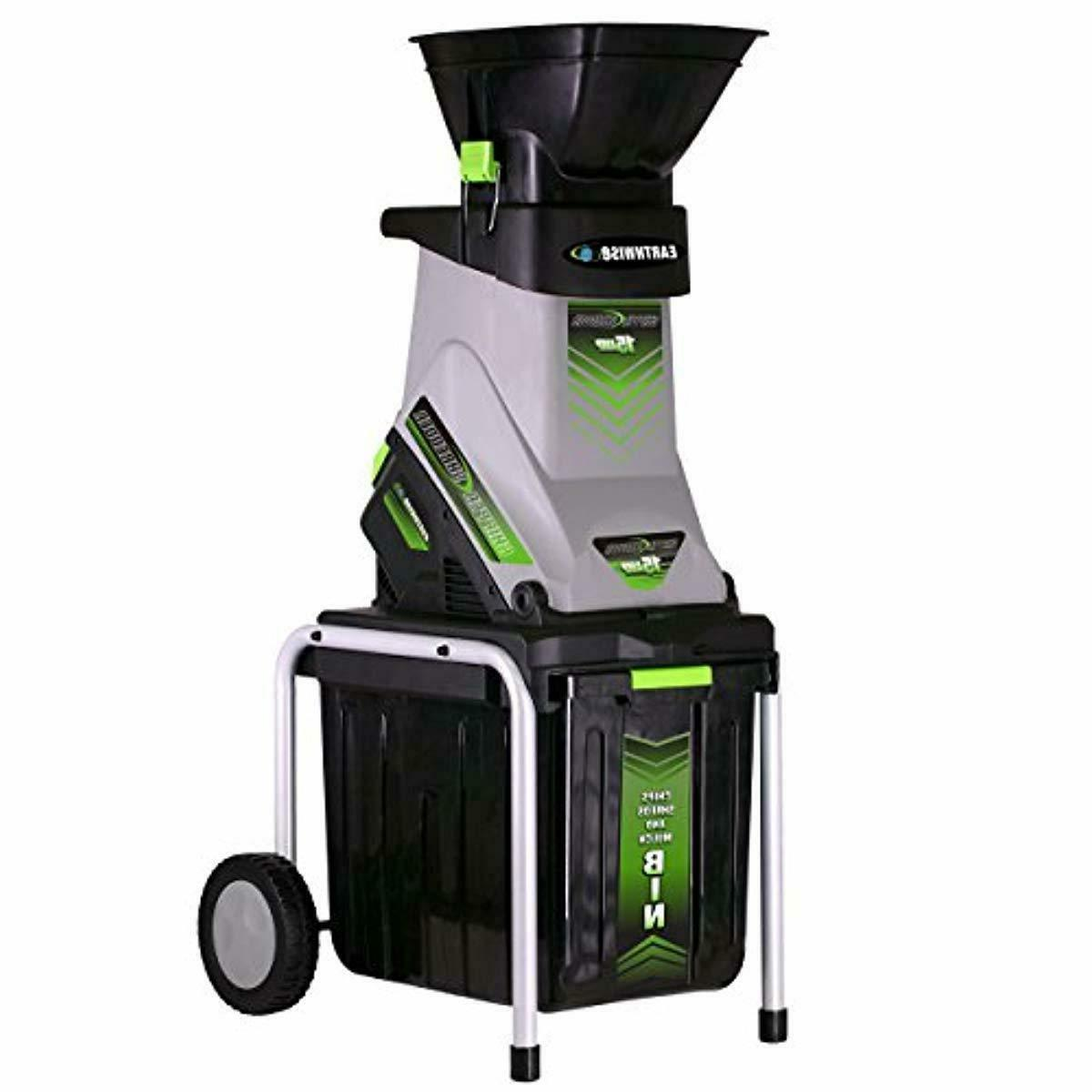 Wood Chippers Shredders 5 Amp Electric Chipper Bin