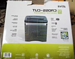 Ativa MD1200 12-Sheet Cross-Cut Paper Shredder w/ 1.8-Gallon