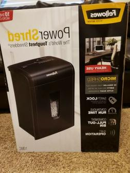 NEW - Fellowes 10 Sheet Micro-cut Shredder 10MC Black W/ Saf