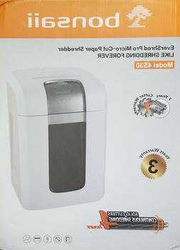 Bonsaii Model #4S30 Paper Shredder 10 Sheet *** LOCAL PICKUP
