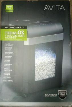 New/sealed Ativa 20 Sheet Cross-Cut Heavy Duty Shredder,