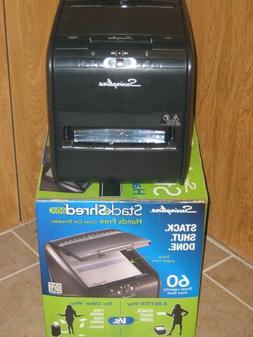 SWINGLINE Paper Shredder Cross-Cut Stack Shred Autofeed up t