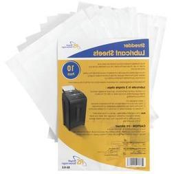 Paper Shredder Lubricant Sheets, 10 Pk