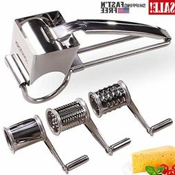Rotary Cheese Grater Vegetable Stainless Steel Cheese Grater