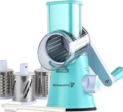 LOYALMASTER Rotary Cheese Grater - Hand Crank Vegetable Slic