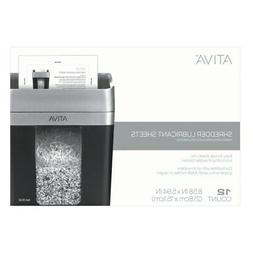 Ativa Shredder Lubricant Sheets, Pack Of 12 Sheets