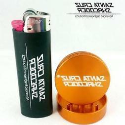 "Small 1.6"" Orange Santa Cruz Shredder Aluminum Herb Grinder"
