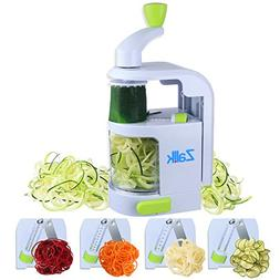 Spiralizer Vegetable Slicer - 4 IN 1 Blade Dial Veggie Spira