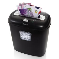 Aurora 6-Sheet Strip-Cut Paper/Credit Card Shredder without
