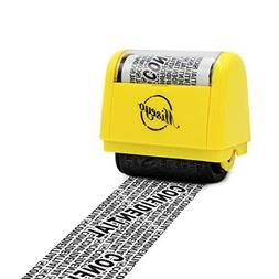 Miseyo Wide Roller Stamp Identity Theft Stamp 1.5 Inch Perfe